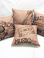 1 pcs Linen Pillow Case Body Pillow Travel Pillow Sofa Cushion Novelty Pillow,Novelty Still Life Graphic PrintsTraditional/Classic