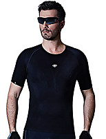 SANTIC Cycling Jersey Men's Short Sleeve Bike Breathable Jersey 100% Polyester Elastane Terylene Classic Spring Summer Fall/AutumnLeisure
