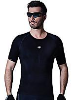 SANTIC Camisa para Ciclismo Homens Manga Curta Moto Respirável Camisa/Roupas Para Esporte 100% Poliéster Elastano Terylene Clássico