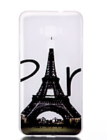 Para Fosforescente Congelada Traslúcido Diseños Funda Cubierta Trasera Funda Torre Eiffel Suave TPU para AsusAsus ZenFone 3
