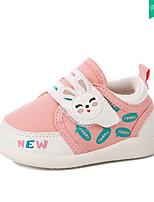 Girls' Sneakers Spring Fall Comfort Leatherette Outdoor Casual Flat Heel Hook & Loop Walking