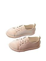 Белый Черный-Девочки-Повседневный-Полиуретан-На плоской подошве-Удобная обувь-На плокой подошве