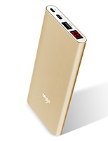 aigo® 10000mAh power bank 2A 1.5A external battery with Cable Automatic Adjusted Current Cigarette Lighter Super Slim