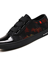 Men's Sneakers Spring Summer Fall Comfort Leather Outdoor Casual Flat Heel Lace-up Black