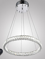 Dimmable LED Crystal Pendant Lights Dining Room Ceiling Chandeliers Lighting with Remote Control