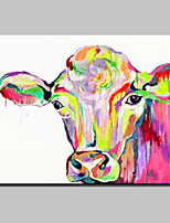 Hand Painted Cow Oil Painting On Canvas Modern Abstract Wall Art Picture For Home Decoration Ready To Hang