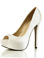 Women's Heels Summer Club Shoes Silk Wedding Party & Evening Dress