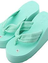 Women's Slippers & Flip-Flops Summer Creepers Light Soles Linen Outdoor Casual Wedge Heel Hollow-out Walking