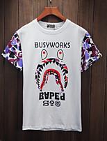 T-shirt à manches courtes sauvage et sauvage au Coréen