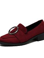 Femme-Bureau & Travail Habillé Décontracté-Blanc Noir Bourgogne-Gros Talon Block Heel-club de Chaussures-Chaussures à Talons-Laine