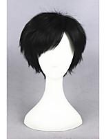 court vous xiu perruque synthétique cosplay anime 12 pouces noir cs-223a