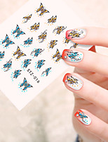 5pcs/set Colorful Butterfly Nail Art Sticker Sweet Butterfly Nail Water Transfer Decals Nail Beautiful Decoration STZ-016
