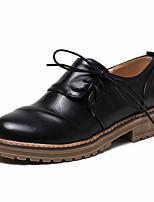 Mujer-Tacón Robusto Talón de bloque-Zapatos del club-Tacones-Oficina y Trabajo Vestido Informal-PU-Negro Beige Verde