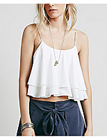 Women's Sexy Tank Top,Solid Strap Sleeveless Cotton