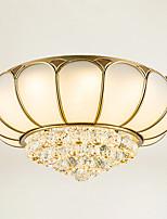 צמודי תקרה ,  מסורתי/ קלאסי Brass מאפיין for קריסטל LED מתכת חדר שינה חדר אוכל