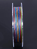 PE Braided Line / Dyneema / Superline Fishing Line Multicolored 0.128 mm ForJigging Sea Fishing Fly Fishing Bait Casting Spinning Jigging