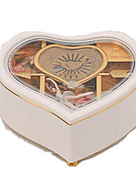 Music Box Music Classic & Timeless Glass White Pink