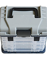 As Picture Waterproof General Fishing Plastic Fishing Tackle Box