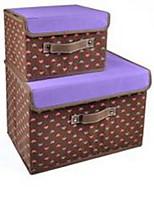 קופסאות אחסון יחידות אחסון סלי אחסון לא ארוג עםמאפיין הוא עם מכסה , ל בד