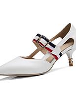 Белый Черный Красный-Для женщин-Для офиса Для праздника Для вечеринки / ужина-Полиуретан-На шпильке-клуб Обувь-Обувь на каблуках