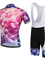 AOZHIDIAN Summer Cycling Jersey Short Sleeves BIB Shorts Ropa Ciclismo Cycling Clothing Suits #AZD134