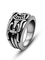Ring Punk Titanium Steel Irregular Silver Jewelry For Daily 1pc