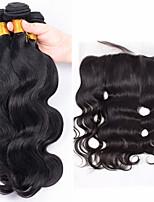 One Pack Solution Cheveux Brésiliens Ondulation naturelle 12 mois 4 Pièces tissages de cheveux
