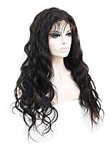 150% densidad 20inch onda natural larga del cuerpo pelucas remy indias del frente del cordón de los gluelss del pelo humano del 100%