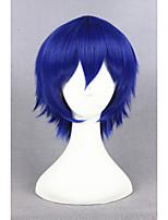 Perruque durarara courte kuronuma aoba perruque cosplay bleu synthétique 14inch anime cosplay perruque cheveux cs-229c