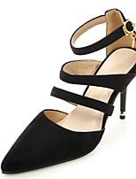נשים-עקבים-קטיפה חומרים בהתאמה אישית-חדשני שפיץ ושני חלקים גלדיאטור נעלי מועדון-שחור אפור צהוב אדום ירוק-חתונה שמלה מסיבה וערב-עקב נמוך