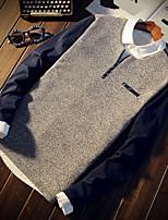 -p35- novos homens&# 39; s casual de mangas compridas t-shirt telha de madeira japonesa