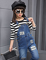 Girls' Casual/Daily Solid Overall & Jumpsuit-Cotton Spring Fall