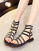 Women's Boots Spring Summer Mary Jane Tiny Heels for Teens Ankle Strap Cowhide Canvas Outdoor Athletic Split Sole Applique Button Walking