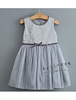 Girl's Casual/Daily Print Dress,Cotton Winter Spring Fall Sleeveless