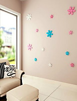 Shapes Wall Stickers 3D Wall Stickers Decorative Wall StickersVinyl Material Home Decoration Wall Decal 3pcs