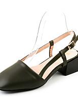 Sandals Summer Club Shoes Leatherette Office & Career Dress Casual Flat Heel Buckle Walking
