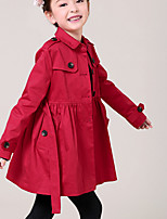 Girls' Casual/Daily Formal Solid Jacket & Coat,Cotton Spring Fall Long Sleeve
