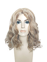 Capless Wig Blonde Mid-Part Synthetic Fiber Heat Resistant Hairstyle For Black Women
