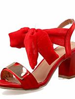 -Для женщин-Свадьба Для праздника Для вечеринки / ужина-Материал на заказ клиента Дерматин-На толстом каблуке Блочная пятка-Оригинальная