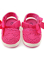 Kids' Loafers & Slip-Ons Spring Fall Flower Girl Shoes First Walkers Fabric Wedding Party & Evening Dress Casual Flat Heel Bowknot