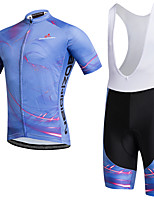 AOZHIDIAN Summer Cycling Jersey Short Sleeves BIB Shorts Ropa Ciclismo Cycling Clothing Suits #AZD144