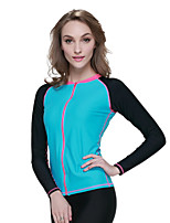 Sports Women's Wetsuit Top Breathable Quick Dry Anatomic Design Compression Neoprene Diving Suit Long Sleeve Tops-Diving Spring Summer