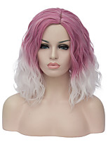 European and American fashion daily fresh purple gradient noodles party cos wig 1891
