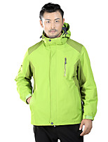 Homens Jaquetas 3-em-1 Jaqueta de Inverno Esqui Acampar e Caminhar Caça Esportes de Neve SnowboardImpermeável Respirável Térmico/Quente A