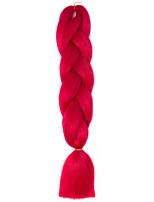 1 Pack Red Jumbo Braids Hair Extensions Kanekalon Hair Braids Crochet 24inch Fiber 100g