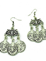 Drop Earrings Jewelry Alloy Vintage Bohemian Round Jewelry Party Daily Casual 1 pair