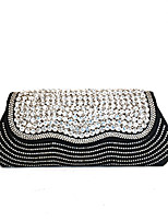 Women Crystal Clutches Evening Bags Gold/Silver/Black