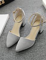 Damen-High Heels-Lässig-PU-Blockabsatz Block Ferse-Komfort-