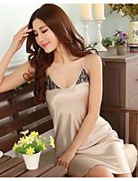Women's Garters & Suspenders Nightwear Solid-Thin Bamboo Fiber Women's