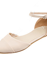 Sandals Spring Summer Fall Club Shoes PU Office & Career Party & Evening Dress Flat Heel Buckle